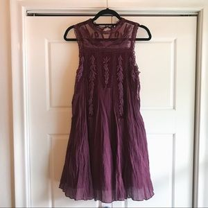 Free People Lace Shift Dress Size Medium